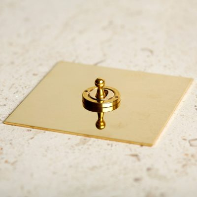 Dolly Switch in Unlacquered Brass