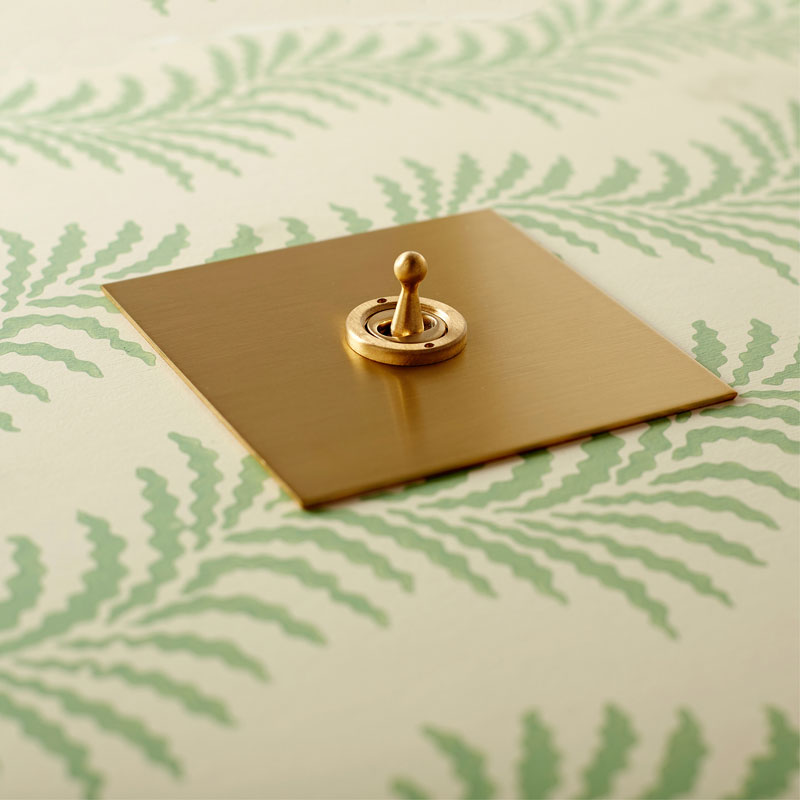 Momentary Switch in Brushed Brass - 1 gang