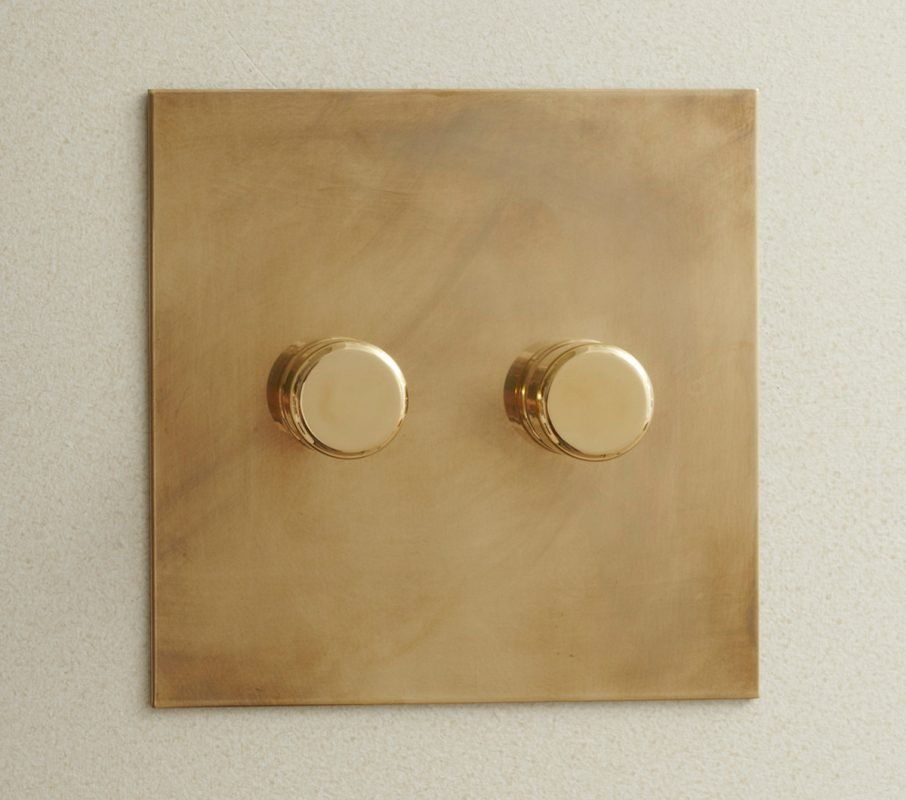 Rotary Dimmer in Aged Brass