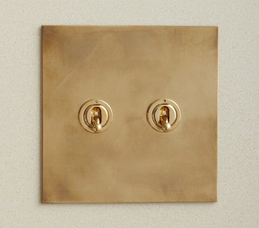 Toggle Switch in Aged Brass