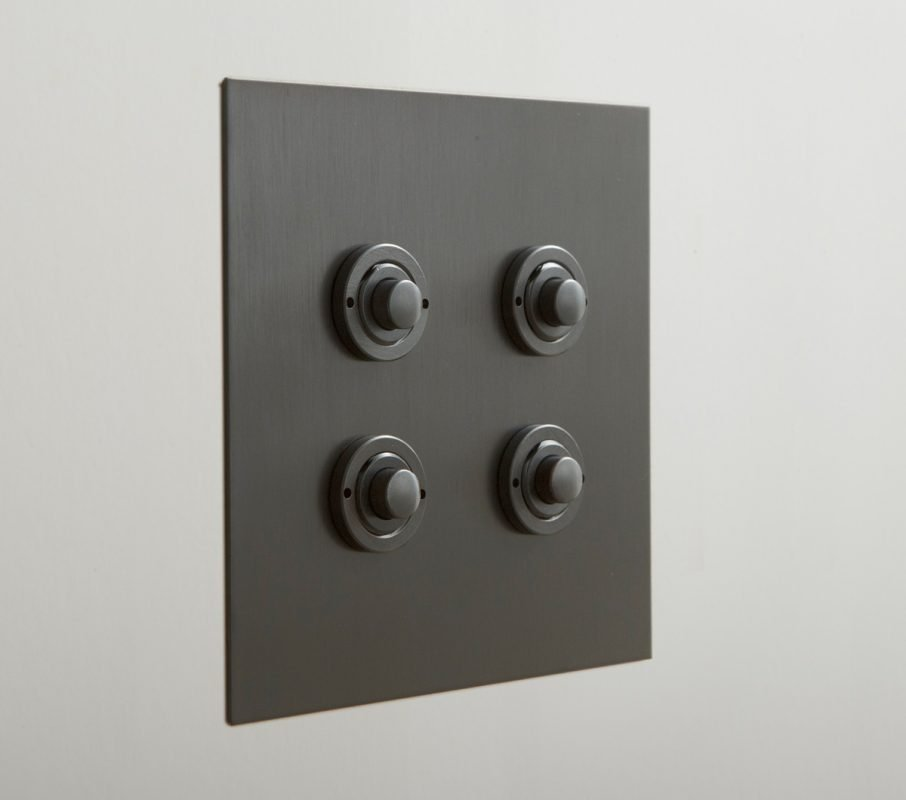 Push Button in Antique Bronze